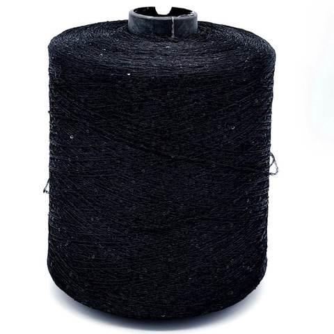 Пряжа Paillettes 049 черный