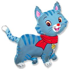F Мой милый котенок в шарфике (голубой), 37