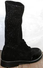 Весенние полусапожки женские Kluchini 5161 k255 Black