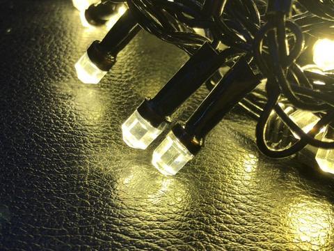 Штора-гірлянда Кришталь 300 LED E 3 на 1.5 м. тепло-біла