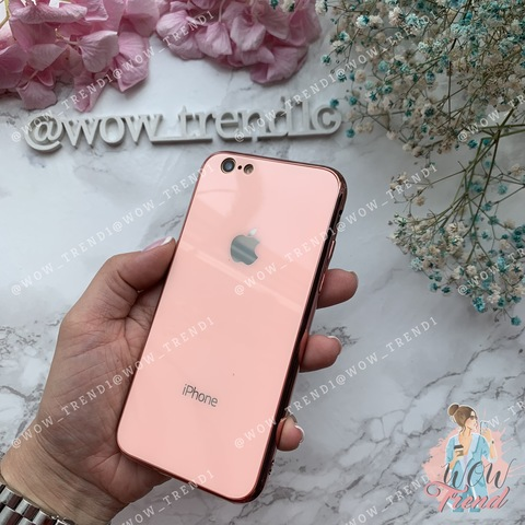 Чехол iPhone XR Glass Case Logo /pink/