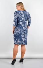 Луиза. Стильное платье больших размеров. Орнамент.