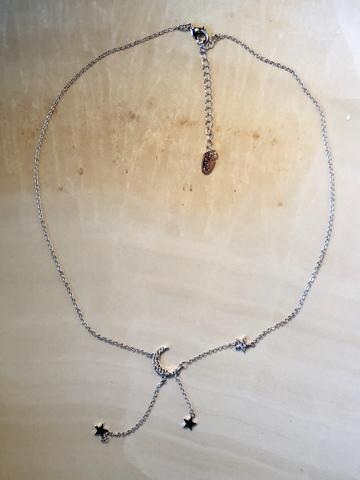 Колье Дриами, серебряный цвет