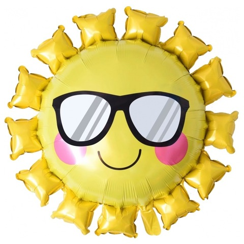 Шар фигура Солнце в очках, 79 см