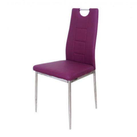Стул DC600 Фиолетовый 655 / каркас хром