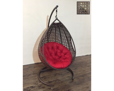 Подвесное кресло Олива коричневая