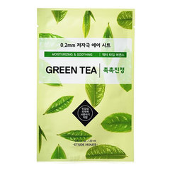 Etude House Therapy Air Mask Green Tea - Маска тканевая с экстрактом зеленого чая 0.2