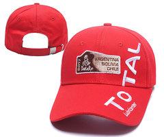 Кепка с вышитым логотипом Дакар Тотал (Бейсболка Dakar Total) красная