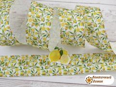 Лента репсовая Мелкий лимон 38 мм