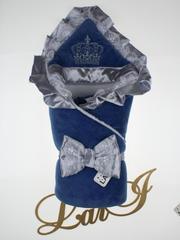 Зимний набор на выписку из роддома Очарование - 3 предмета (джинсовый)