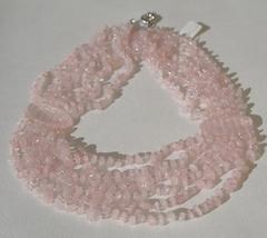 Аврора (колье розовый кварц)