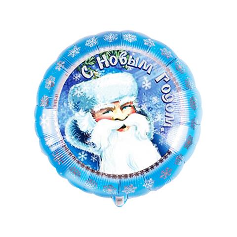 Фольгированный шар с Дедом морозом