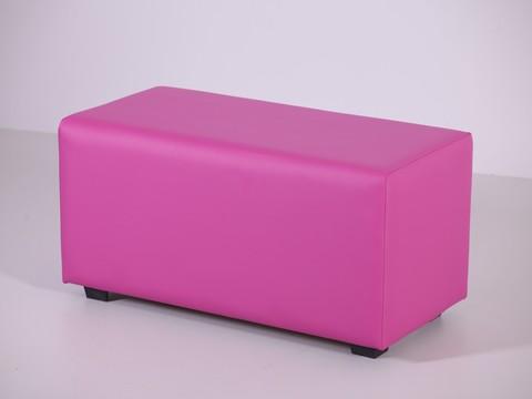 Пф-02 Пуфик прямоугольный (розовый) пуфик для дома и магазина