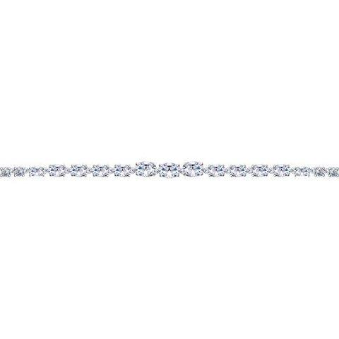 94050357- Браслет из серебра с дорожкой из фианитов