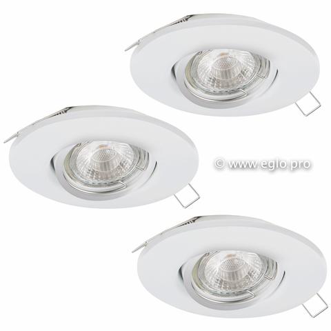 Комплект светильников светодиодных встраиваемых пошагово диммируемых Eglo TEDO 1 95357