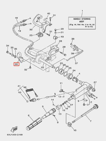 Ручка п-п для лодочного мотора F20 Sea-PRO (16-33)