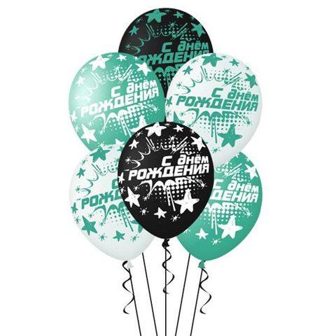 Воздушные шары на день рождения бирюзовые