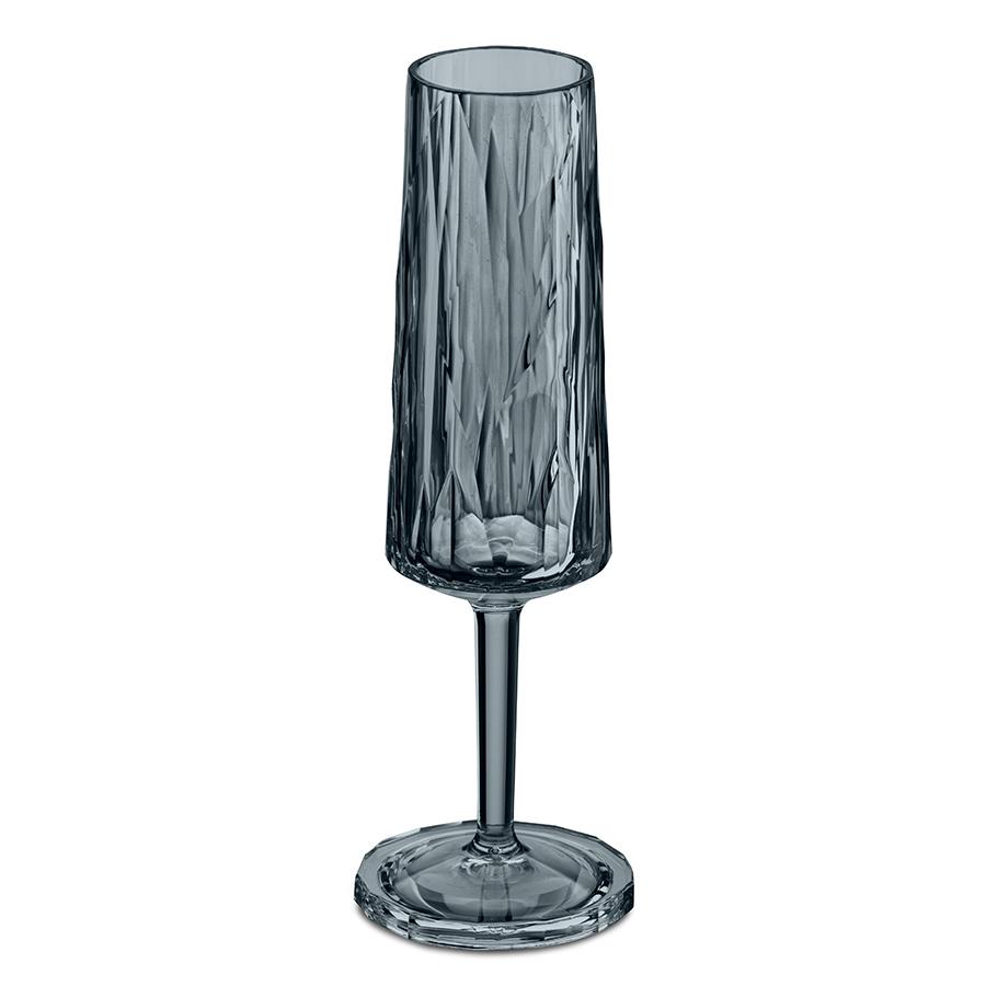 Бокал для шампанского Superglas CLUB NO. 5, 100 мл, серый