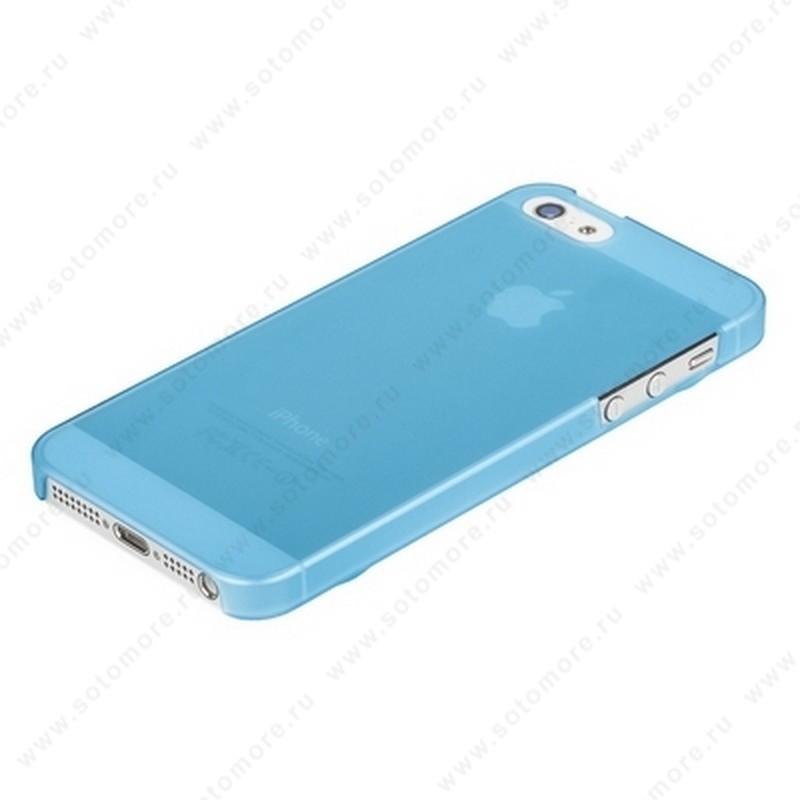 Накладка XINBO пластиковая для iPhone SE/ 5s/ 5 голубая