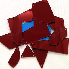 Зеркала акриловые пришивные купить оптом красные Dark Siam