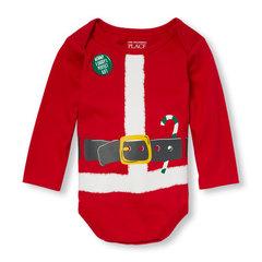 THE CHILDREN`S PLACE Боди новогодний Санта Клаус ББ45