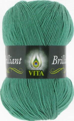 Пряжа Brilliant Vita 5117 Зеленая бирюза фото