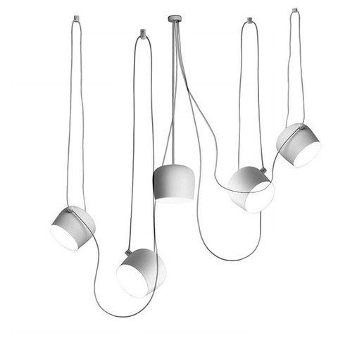 Подвесной светильник копия AIM by Flos (5 плафонов, белый)
