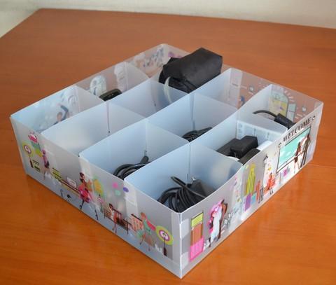 Пластиковый органайзер для белья без крышки 31*31*10 см, 12 ячеек