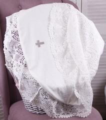 Эксклюзивная крыжма для крещения Кружевная (айвори)