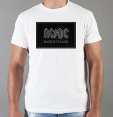 Футболка с принтом AC DC (Рок) белая 006