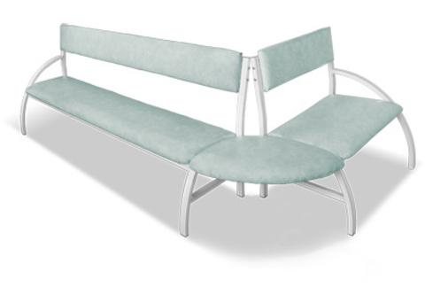 Скамья (диван) угловая (наружная) - фото