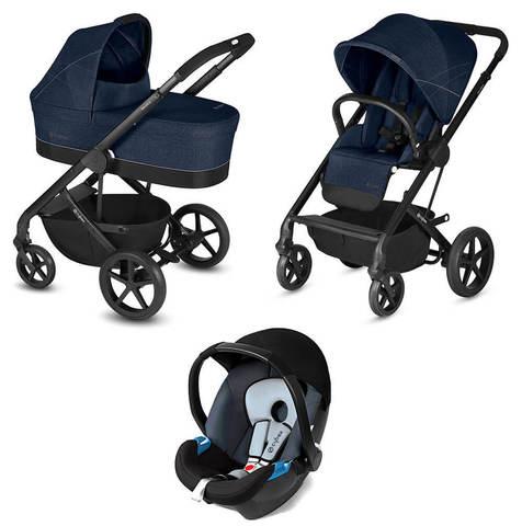 Детская коляска Cybex Balios S 3 в 1 Denim Blue