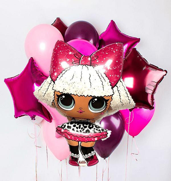 Воздушные шары куклы Набор шариков Фуксия с Лол nabor-lol-min.png