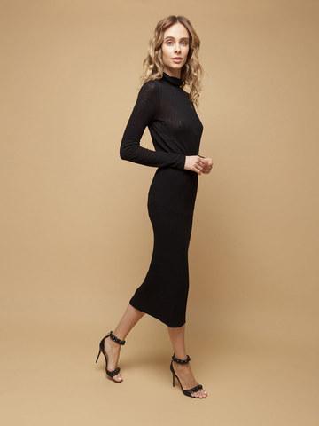 Женская юбка черного цвета из шерсти - фото 4