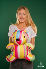 Подушка-игрушка антистресс «Мишка Мультифрукт» 2