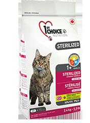1st Choise Беззерновой корм для стерилизованных кошек и кастрированных котов, 1St Choice, с курицей и бататом croquettesterilise-zoo812ru_177x240.png