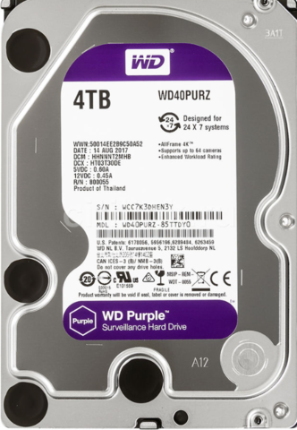 Жесткий диск WD Purple [WD40PURZ] 4 ТБ