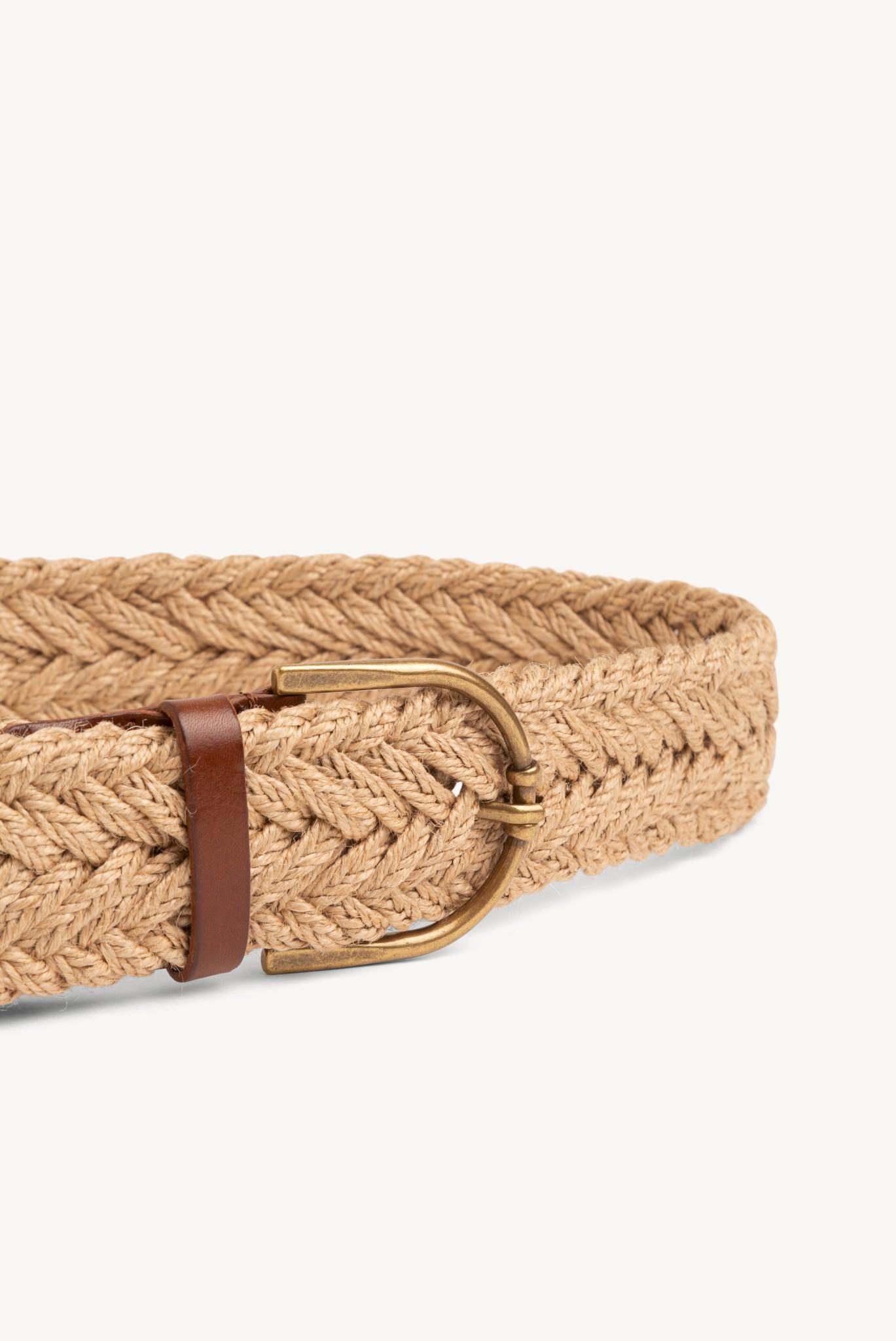 GOA - Широкий плетенный ремень из джута