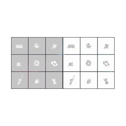 Трафарет для ногтей 9 шт. /1 уп. № CL6