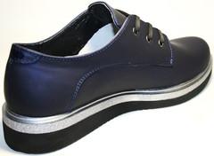 Туфли дерби женские на низком ходу Avangard