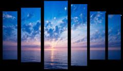 """Модульная картина """"Рассвет на море"""""""