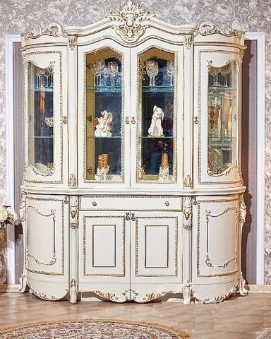Шкаф-витрина ДЖОКОНДА крем глянец 1,9