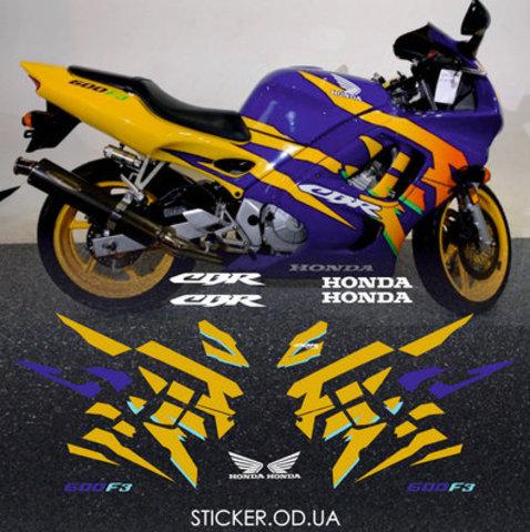Набор виниловых наклеек на мотоцикл HONDA CBR 600 F3 1997
