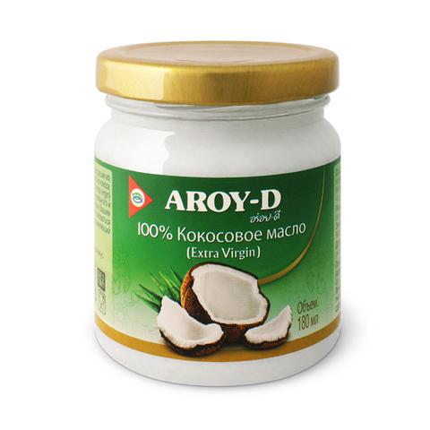 100% Кокосовое масло (extra virgin) 180 мл. Aroy-D