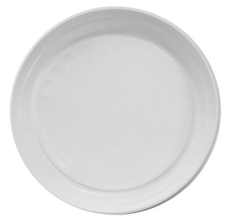 Тарелки одноразовые (пластик), 10 шт
