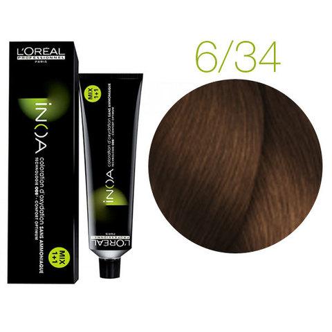 L'Oreal Professionnel INOA 6.34 (Темный блондин золотистый медный) - Краска для волос