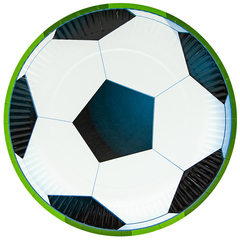 Тарелки Футбольный мяч, 9''/23 см, 6 шт.
