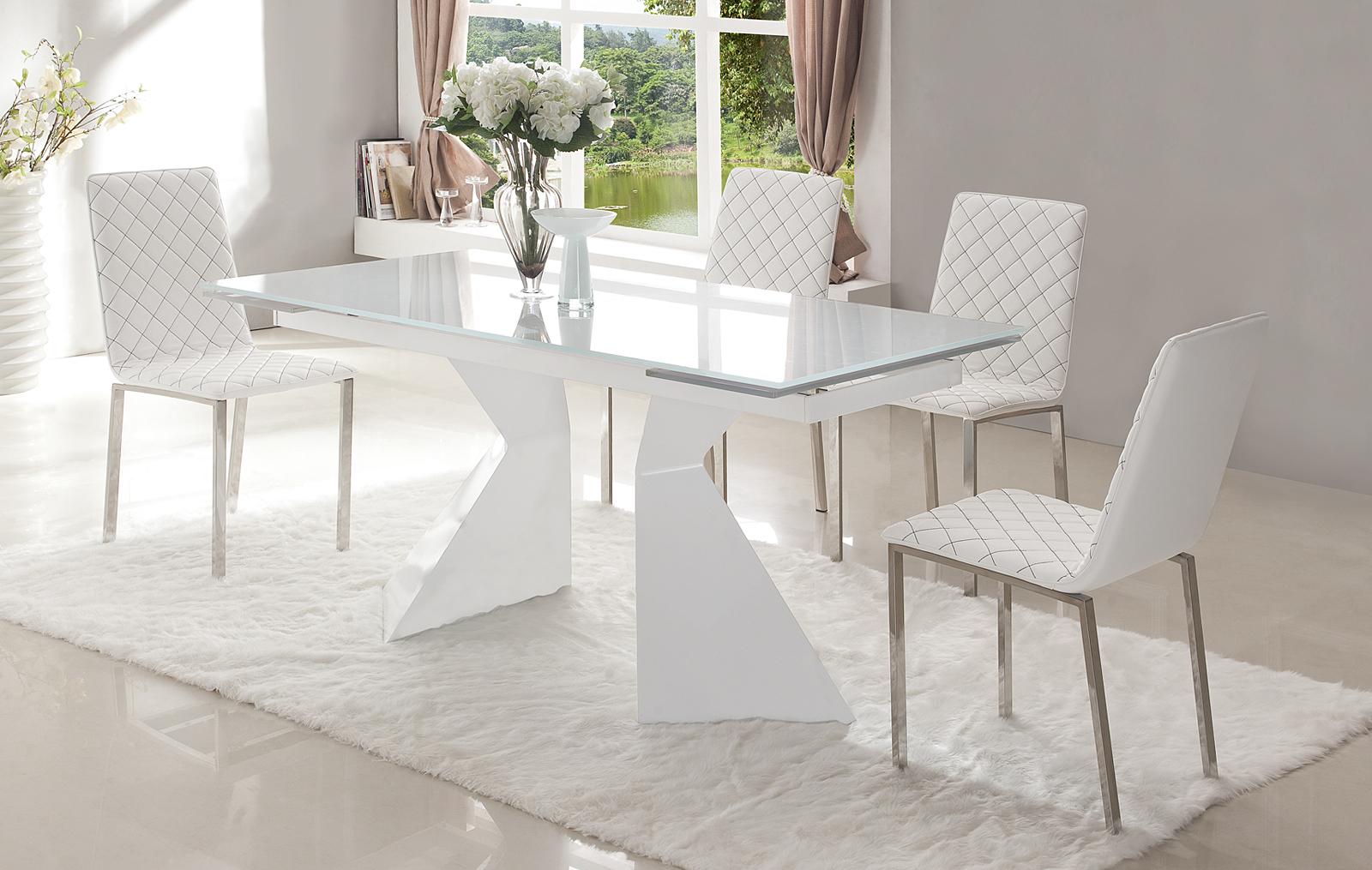 Стол ESF CT992 белый и стулья ESF BZ-692 белый