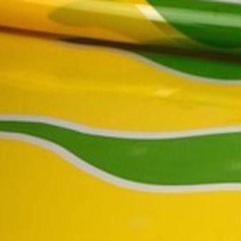 Пленка полипропиленовая цветная Пламя 70см х 7м Цвет: желто-салатовый