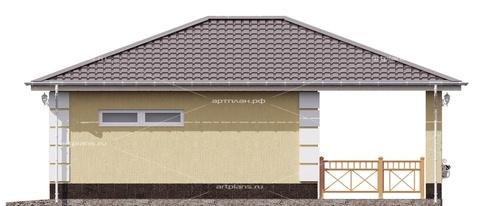 Проект гаража с террасой